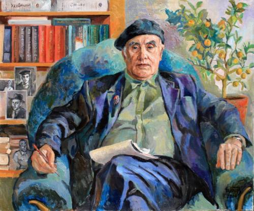 Выставка художника  Ирины Тур в Доме литераторов. Портрет писателя Е.А. Кулькина